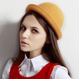Wholesale Curl Fashion Style - Spring and autumn, jazz British style, curling dome small hat and most stylish new hat, free shipping