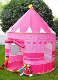 Wholesale Blue Castle Play Tent - Princess Castle Tent Princess Kids Toys HOT KIDS PLAY TENT BOY and GIRLS CASTLE PRINCESS PLAYHOUSE OUTDOOR INDOOR GIFT