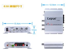 Wholesale Subwoofer 12v - Sell like hot cakes Leipai LP-838 Mini Super Bass 2.1 3 Channel Stereo Computer Car Amplifier Subwoofer Out