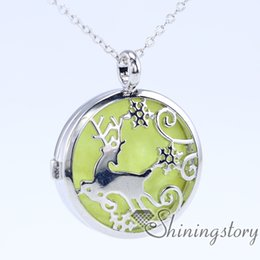 Wholesale Buy Pendants - deer locket pendant aromatherapy jewelry diffusers essential oil jewelry buy lockets online essential oil jewelry small locket necklace