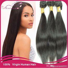 Wholesale Genesis Hair Wholesale - 7A unprocessed virgin maylasian hair straight 4pcs lot no shed malaysian straight genesis virgin hair from Mocha hair company 3,4,5pcs lot