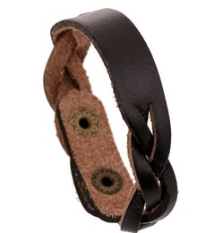 Wholesale China Wholesale Weave - Vintage Genuine leather hand-woven bracelets fashion men women teens ID Identification bangle wristband charm jewelry party festive gift