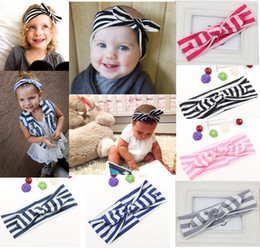 Wholesale Scarf Hair Wraps - Princess Top Knot Cute Girl Striped Headbands Headband Scarf Stripe Hair Band Bow Head Wrap Polkadot
