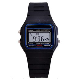 Wholesale Wholesale Silicone Watches For Women - New Mens LED Digital Watches Students Silicone LED Watch Fashion Electronic Sports Watches Jelly Candy Wrist Watches For Mens Women 91W