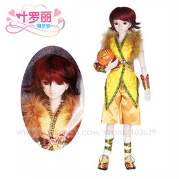Wholesale Free Toys Male - Night Lolita 1 3 BJD Doll Boy 60cm 19 jointed dolls Sunny Boy Male dolls ( Free Eyes Hair Makeup + Clothes Shoes ) DA001-13