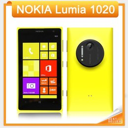 "Wholesale Dual Windows - Original Nokia Lumia 1020 Nokia Windows cell Phone 32G ROM Camera 41MP NFC Bluetooth 3G   4G 8 Dual Core 4.5"" Screen refurbished Cellphone"
