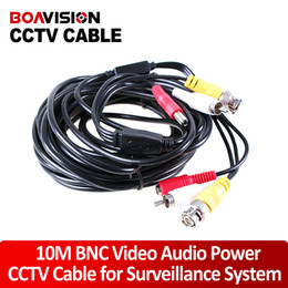 Wholesale Audio Power Cable Cctv - 10M 33FT Audio Video Power Camera Extension Cable BNC RCA For CCTV Camera