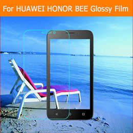 """Wholesale Cell Phone Cleaning Cloths Wholesale - Wholesale-3X HD Clear Glossy screen protector film For huawei honor bee y541 y5c 4.5"""" cell phone front HD film Lcd panel + clean cloth"""
