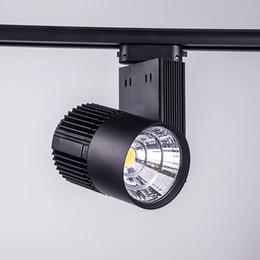 luz de techo de altos lúmenes Rebajas LED luz de pista 30W COB alto lúmenes llevó las luces del punto del techo para la lámpara de iluminación del centro comercial caliente / blanco AC 85-265V CE negro / blanco