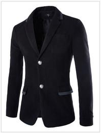 Wholesale Korean Casual Suits For Men - Wholesale-2015 new arrival mens suit blazer autumn and winter hit color striped men's casual suit jacket Korean version blazer for men