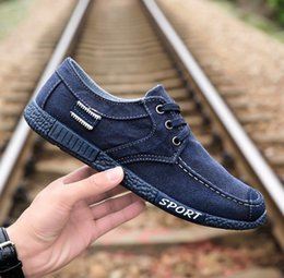 Wholesale Beijing Summer - 2018 New style men's casual shoes in summer, old Beijing shoes, breathable lazy shoes, men's low canvas shoes on behalf of drop shipping