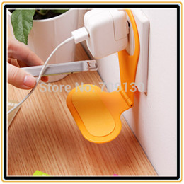 Wholesale Hang Phone Hanger - Wholesale-5000PCS FREE DHL Foldable Wall Charger Adapter Charging Holder Hanger Stand for Hanging Cell Phone Cellphone Mobile MP3 4 PDA