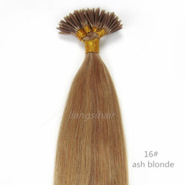 """Wholesale i tip indian virgin hair - 7A Brazilian Indian Peruvian Malaysian Virgin Remy Human Hair Extensions Straight Style I-tip Hair 15"""" 80g 18""""-26"""" 100g 100s 16# Ash Blonde"""
