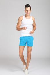 Toptan-Seksi Erkek Şort Spor Boxer Spor Giyim Pamuk rahat aktif Plaj Sörf Mayo Yüzme pantolon sandıklar bermuda masculina supplier wholesale mens sexy swimwear nereden toptan erkekler seksi mayo tedarikçiler