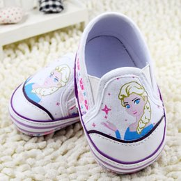 Wholesale Cartoon Character Shoes - Elsa Anna Winter Kids Shoes Cartoon Character Pattern Children Baby Toddler Shoes B001