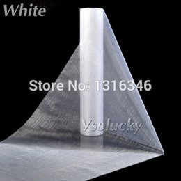 Wholesale Organza Fabric 29cm - Wholesale-25M x 29CM White Sheer Organza Roll Fabric DIY Wedding Party Chair Sash Bows Table Runner Swag Decor Hot Sale