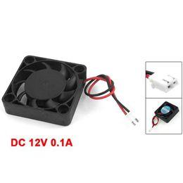 оптовый вентилятор dc 12v Скидка 10 шт. Оптовая DC 12 в 0.1 A 2 Pin PC Case CPU Cooler вентилятор охлаждения 40 мм x 40 мм x 10 мм
