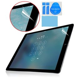 Wholesale Cleaning Ipad Screen - Front Clear Screen Protector LCD Screen Guard Protective Film For Apple IPad Pro 12.9 ipad mini 4 7.9 inch with cleaning tool kit