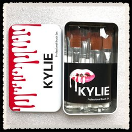 Wholesale Bb Foundation Makeup - Kylie jenner Oval Makeup Brushes Sets Cosmetics Brush Foundation BB Cream Powder Blush 12pcs Set Makeup Tools