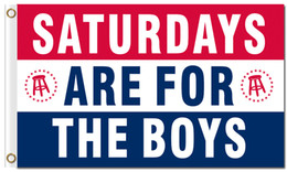Wholesale Custom For Sale - Hot Sale 3x5ft SATURDAYS ARE FOR THE BOYS flags with two grommets 100D polyester digital printing custom flags