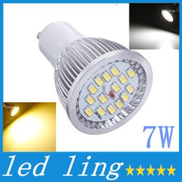 Wholesale Cheapest Led Light Bulbs E27 - Cheapest LED GU10 spot light bulbs lamp 7W warm cool white 15pcs 5630 SMD Led lights 120 degree AC 85-265V