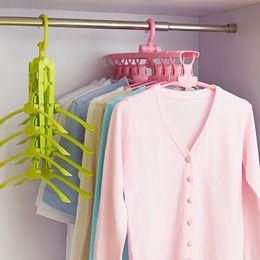Wholesale Coats Racks - Modern Plastic Coat Hanger Foldable Non Slip Magic Clothes Rack 360 Degree Rotation No Trace Hangers Top Quality 19 5bh B