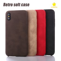 Wholesale Stitch Phone Cases - Phone Cases PU Business Stitching Soft Case Back Cover Case for iPhone 8 Plus iPhone X iPhone 6 7 Plus