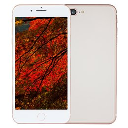 Wholesale Android Qwerty 8mp - 3G WCDMA Goophone i8 Plus V2 Quad Core MTK6580 1.3GHz 1GB 8GB+32GB Android 6.0 GPS WiFi 5.5 inch IPS 1280*720 HD 8MP Camera Smartphone Gold