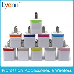 Wholesale I Phone Adapters - Wall Chargers US Plug 5V 2A Dual USB Power Adapter 2 Port Charger Adapter for i Phone 6 5s pad air for Samsung