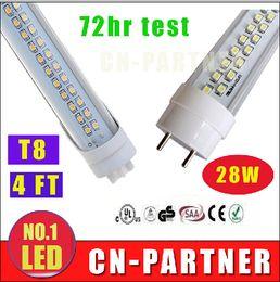 2019 4 tubi di luce led t8 25w x50 produttori vendita diretta UL CE ROHS 28W 4ft 1200mm T8 G13 Led Tubi Luci Doppie Righe 1.2 m Led Tubi Fluorescenti Luce 192 pz SMD 2835 4 tubi di luce led t8 25w economici