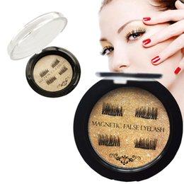 Wholesale Mink Eyelashes Glue - Double Magnetic Eye Lashes 3D Mink Reusable Fasle Eyelash Without Glue Use MR719