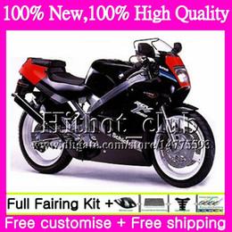 Wholesale 1997 Suzuki Fairing Kit - Body For SUZUKI RGV250 VJ23 97-98 RGV 250 97 98 Bodywork 39HT20 RGV-250 VJ 23 Cowling RGV250 1997 1998 Motorcycle Fairing kit Glossy black