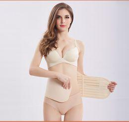 Wholesale Corset Belt Abdomen - Waist Cotton Postpartum Abdominal Belt Recovery Belly abdomen pelvis 3in1 Breathable Shapewear Slim Body Corset Body Shaper Belt