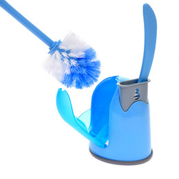 Wholesale Ceramic Toilets - Hot selling toilet brush and toilet brush clean side bending corner cleaning brush With base