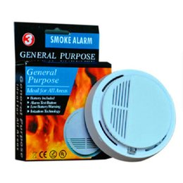 Wholesale Cordless Fire Alarms - free shipping smoke detector alarm SS168 fire smoke sensor alarm tester home security system cordless photoelectric cordless