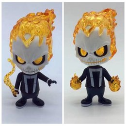 Wholesale Big Toy Garage - Demishop Cosbaby Ghost Rider Action Figure Collection Garage Kit Nendoroid Q Cute Toys Vinyl Figure for Fans Holiday Gift and Car Decration