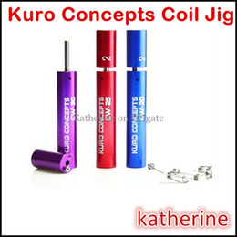 Wholesale Electronic Cigarette Wraps - Kuro Concepts Kuro Koiler Coil Jig for Electronic Cigarette RDA RBA Wire Coiling Tool Kayfun Atty Orchid Atomizer Coil Tool Wrapping Coiler