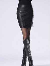 Wholesale Plus Size Faux Leather Skirts - 2014 New Arrival Women Spring And Summer Butt Lift Leather Skirts Fashion Slim Plus Size 6XL Ladies Bust Skirts