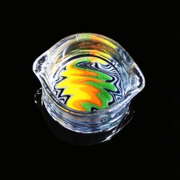 Wholesale Accessories Import - Imported Color Art Glass Wax Dish Oil Containers Glass Oil Bowl Smoking Accessories For Glass Bongs Glass Oil Rig