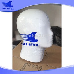 Wholesale Mannequin Male Dummy - Quality Microphone Wig hair Glasses Hat mannequin Fiberglass white male mannequin dummy head for hat  wig  headphones display
