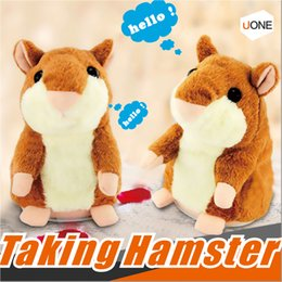 Wholesale Talking Hamster Wholesale - Talking Hamster Repeats What You Say The Cute Plush Animal Toy Electronic HamsterTalking Toys Mouse Pet Plush OOA2883