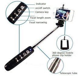 Wholesale Holder Timer - Zoom feature wireless Bluetooth portable self-timer Self-telescopic rod holder travel to shoot handheld self-timer,free shipping