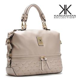 Wholesale black kim - Wholesale-Kim kardashian kollection kk shoulder bag designer brand bag 2015 handbags women rivet fashion bucket gold chain messenger bags