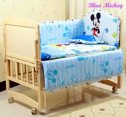 Wholesale Piece Bedding - Baby Bedding Set Cotton 5 Piece Crib Bumper Pillow Baby Cot Baby Bed Bumper Cortina Infantil