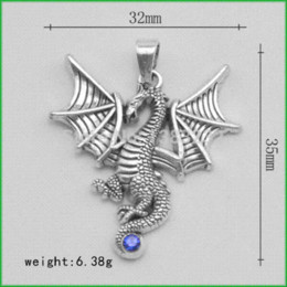 Wholesale Dragon Coin Charm - 50pcs a lot antique silver plated religious dragon charms China Charms Cheap Charms