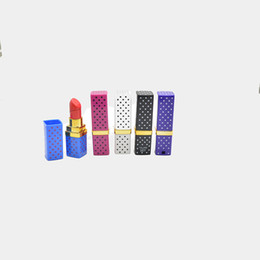 Wholesale Cigarette Lighter Lipstick - 2015 hot sale wholesale Lipstick Shape Mode Portable Flame Gas Point l Cigarette Lighter flame lighters