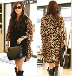 Wholesale Leopard Fur Button Jacket - Womens coat clothing Leopard print Cardigan Casual long Blazer Jacket Outerwear Coats 353