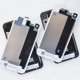 Wholesale Iphone 4s Back Housing Black - 4S Back Glass Cover Case Housing Battery Door Back Door Glass For iPhone 4G Rear Cover Black White 20PCS Lot