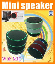 Wholesale Home Music Speakers - Handfree mini bluetooth speaker with LED Portable wireless super bass Hifi home stereo outdoor amplifier music cheap speaker S09 MIS041