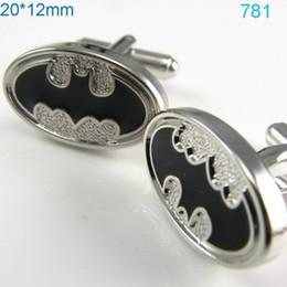 Wholesale Drop Cufflink - Batman Cufflinks Silver Anime Cufflink Cuff Button Men Men Shirt Accessories Drop Shipping cf781
